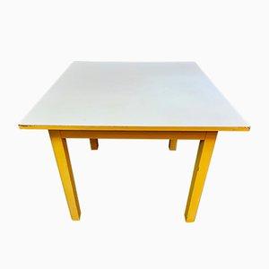 Mesa de comedor Mid-Century de madera y formica