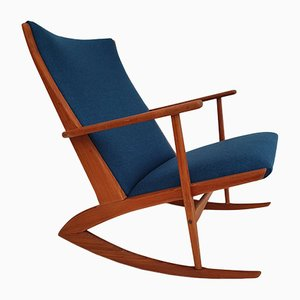 Danish Wool Rocking Chair by Holger Georg Jensen for Tønder Møbelværk, 1960s