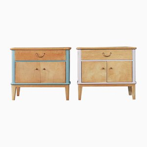 Wood Nightstands, 1960s, Set of 2