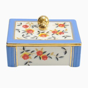 Art Deco Ceramic Box from Boch Frères, 1930s