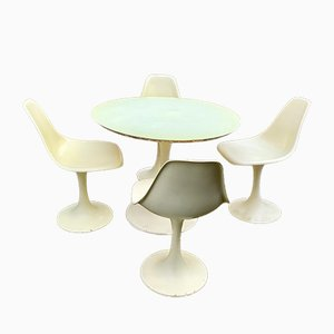 Dining Table & Chairs Set by Eero Saarinen, 1970s, Set of 5