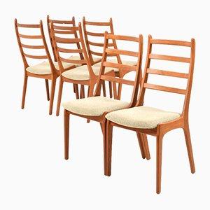 Chaises de Salle à Manger Mid-Century en Teck par Kai Kristiansen pour Korup Stolefabrik, Set de 6