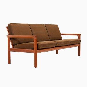 Sofá vintage de teca de Sven Ellekaer para Komfort