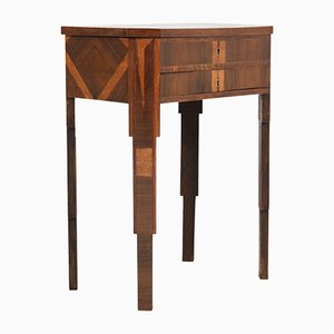 French Walnut Sewing Table, 1930s