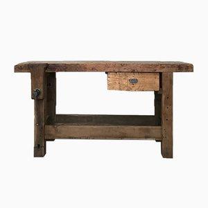 Mesa de trabajo Mid-Century de madera