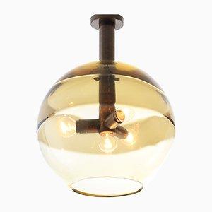Italian Pendant Lamp by Flavio Poli for Seguso Vetri d'Arte, 1960s