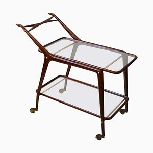 Italian Brass and Glass Trolley by Cesare Lacca, 1950s
