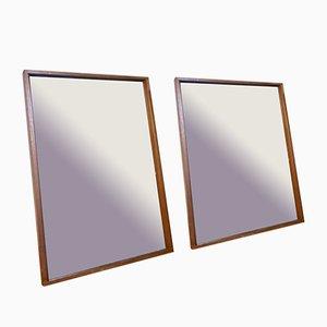 Espejos de repisa daneses de Alfred Cox, años 60. Juego de 2