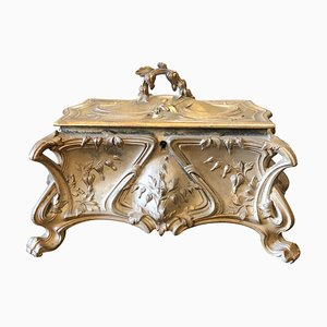 Antique Art Nouveau Italian Jewelry Box, 1900s