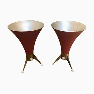 Italian Brass Table Lamps from Arredoluce, 1960s, Set of 2