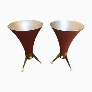 Lámparas de mesa italianas de latón de Arredoluce, años 60. Juego de 2