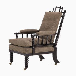 Antique English Ebonized Armchair