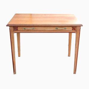 Mesa auxiliar antigua de cerezo