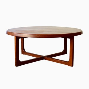 Mid-Century Teak Coffee Table from A/S Niels Bach Møbelfabrik Randers, 1960s