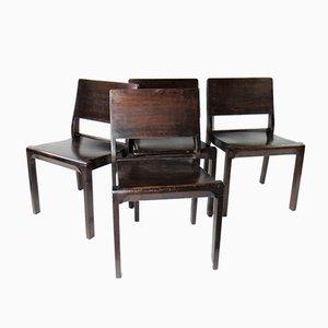Modell 11/611 Beistellstühle von Alvar Aalto für Huonekalu-Ja-Rakennust Työtehdas Oy, 1930er, 4er Set