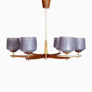 Large Scandinavian Chandelier from Schonlau Leuchten, 1960s