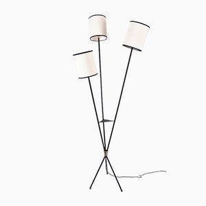 Mid-Century Black French Floor Lamp