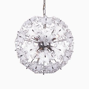 Crystal and Chrome Sputnik Chandelier by Paolo Venini for VeArt, 1960s