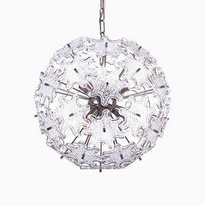 Sputnik Kronleuchter aus Kristallglas & Chrom von Paolo Venini für VeArt, 1960er