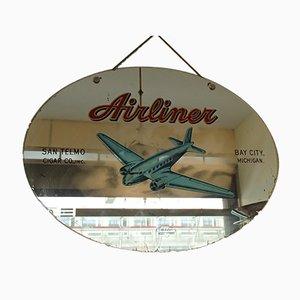 Espejo decorativo de avión de pasajeros, años 50