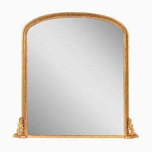 Antique English Gilded Overmantel Mirror
