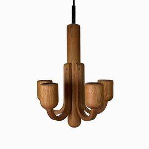 Vintage Deckenlampe aus Teak