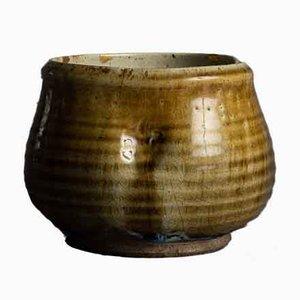 Cuenco Kensui japonés antiguo de gres