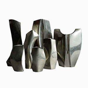 Französische Freiform Vasen, 1960er, 2er Set