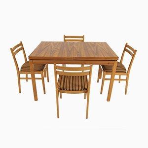 Chaises de Salle à Manger et Set de Table de Jitona, 1978, Set de 5