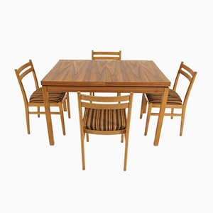Esszimmerstühle & Tisch von Jitona, 1978, 5er Set
