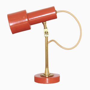 Lámpara de mesa naranja, años 70