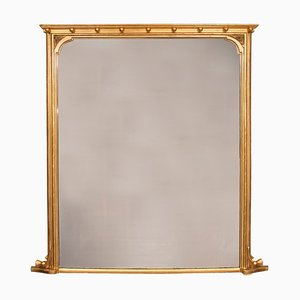 19th Century Gilded Overmantel Mirror