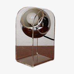 Model 540 Fiberglass and Chrome Table Lamp by Gino Sarfatti for Arteluce