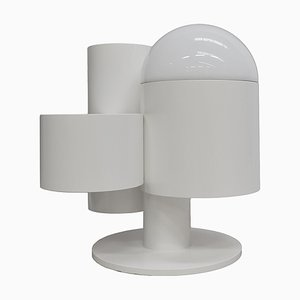 Dutch Space Age White Floor Lamp-Planter by Kerst Koopman, 1982