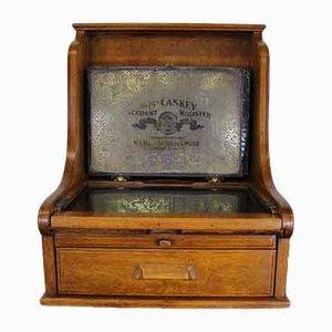 Vintage Oak and Metal Cash Register