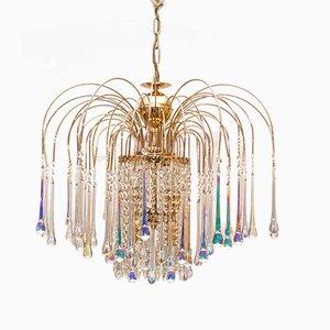 Lámpara de araña Mid-Century de cristal de Murano de Paolo Venini, años 60