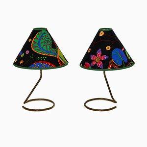 Lampes de Bureau Vintage en Laiton par JT Kalmar, années 50, Set de 2