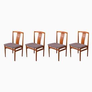 Chaises de Salle à Manger par Henning Sørensen, années 60, Set de 4