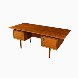 Walnut Veneer Desk, 1950s