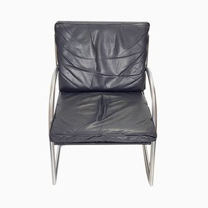 Leather Tubular Armchair by Gerard van den Berg for Rohé Noordwolde, 1980s