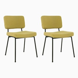 French Dining Chairs by André Simard from Airborne, 1950s, Set of 2