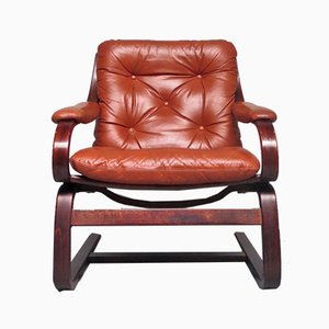 Leather Armchair, 1970s