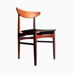 Danish Leatherette and Teak Dining Chair from Farstrup Møbler, 1950s
