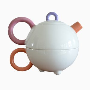 Combination Teapot and Cup by Matteo Thun for Arzberg, 1980s