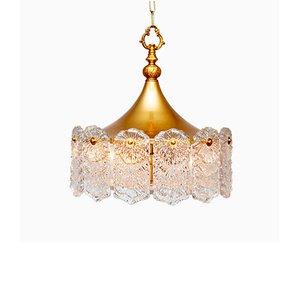Mid-Century Deckenlampe von Carl Fagerlund für Orrefors