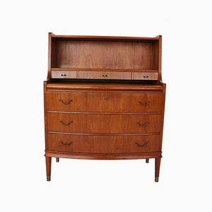 Mid-Century Danish Teak and Brass Secretaire, 1960s