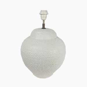 Vintage White Ceramic Table Lamp by Maison Chaumette