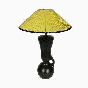 Mid-Century Black Ceramic Table Lamp