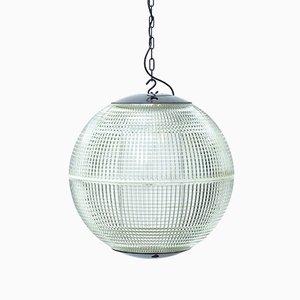 Lampada da soffitto sferica di Holophane, anni '50