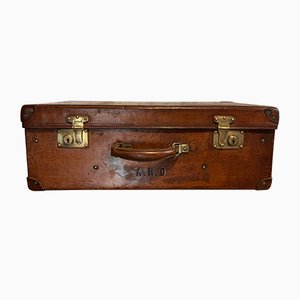 Vintage Leather Suitcase from Moynat, 1940s